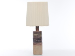 Mid-Century  modern scandinavian large ceramic lamp by Tue Poulsen