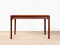 Mid-Century Modern Scandinavian dining table in rosewood 4/8 seats by Henning Kjaernulf