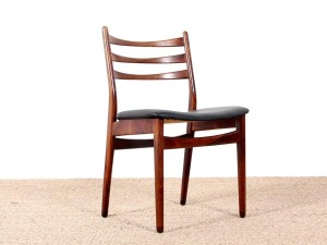 Set of 4 Scandinavian chairs in Rio rosewood