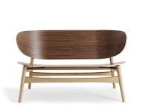 GE 1936 lounge chair Wood, by Hans Wegner. New edition