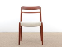 Mid-Century Modern Danish dining chairs in teak.