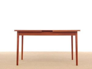 Mid-Century Modern Scandinavian dining table in teak 4/8 seats model Bjärni