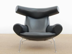 Ox lounge chair. Vintage edition 2006. Black leather