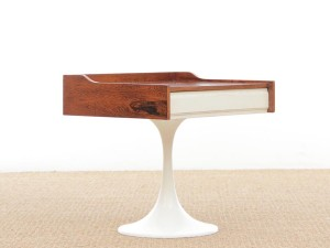 Mid-Century  modern scandinavian  bed table in Rio rosewood
