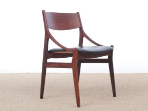 Set of 4 Mid-Century Modern scandinavian chairs in rosewood by  H. Vestervig Eriksen