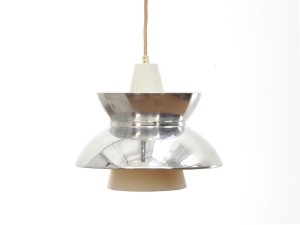 Mid-Century  modern scandinavian pendant lamp Doo-Wop  chrome by Louis Poulsen. Original edition