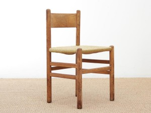 Set of 4 Oak & Rush Dining Chairs by Johan van Heuvel for Ad Vorm, 1960s