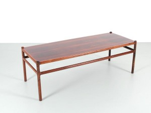 Mid-Century  modern scandinavian coffee table in Rio rosewood  by Henning Korch