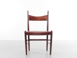 Mid-Century  modern  set of 4 dining chairs in Rio rosewood by H. Vestervig Eriksen