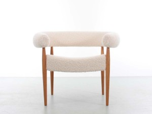 Ring chair by Nanna Ditzel. Special edition with Pierre Frey Louison upholstery