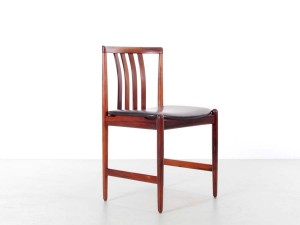 Mid-Century  modern  set of 4 dining chairs in Rio rosewood by Westnofa