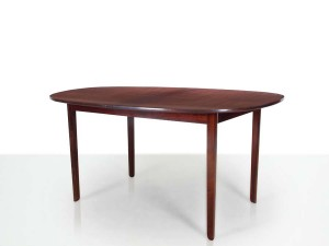 Mid-Century  modern scandinavian dining table in mahogany 4/10 seats by Ole Wanscher