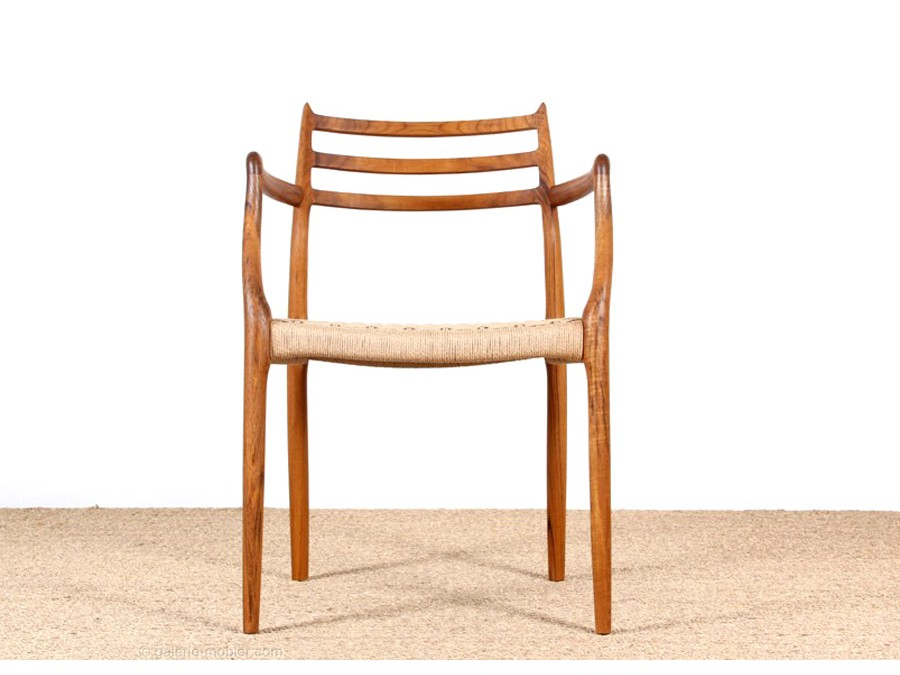Afholte Mid-Century Modern danish arm chair model 62 by Niels O. Møller CB-83