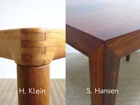 Exemples d'angles de table scandinaves