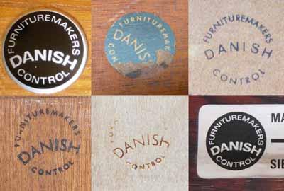 Tampons de certification de meuble danois