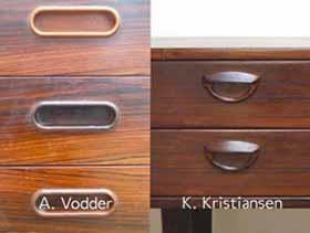 Exemples de poignées de table scandinaves